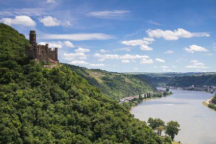 Burg Maus über dem Rheintal