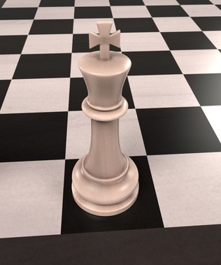 3d rendering of chess board game